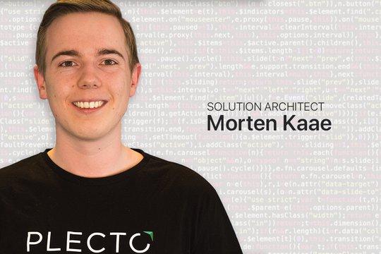Morten, our Solution Architect at Plecto