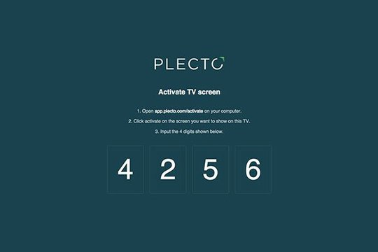 Example of how to activate Plecto dashboard on the TV
