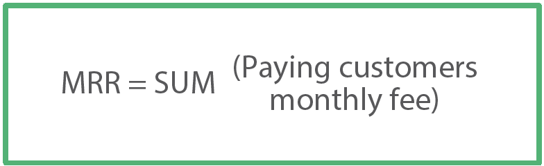 Formula for Monthly Recurring Revenue