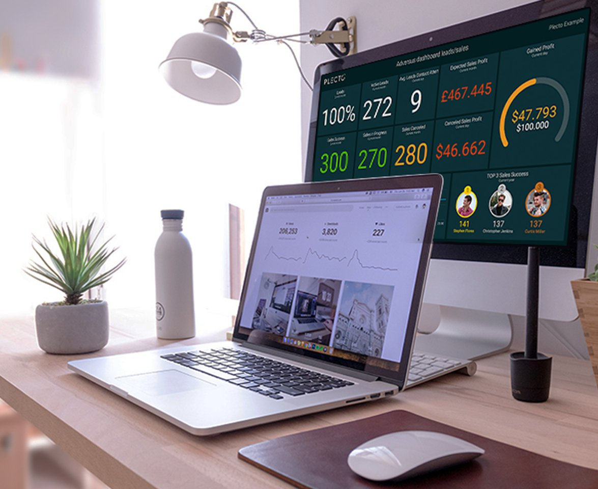 Working remotely with Plecto Dashboard